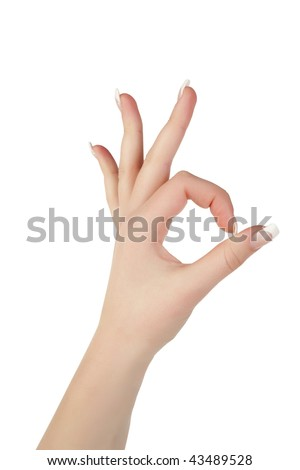 Ok gesture - stock photo