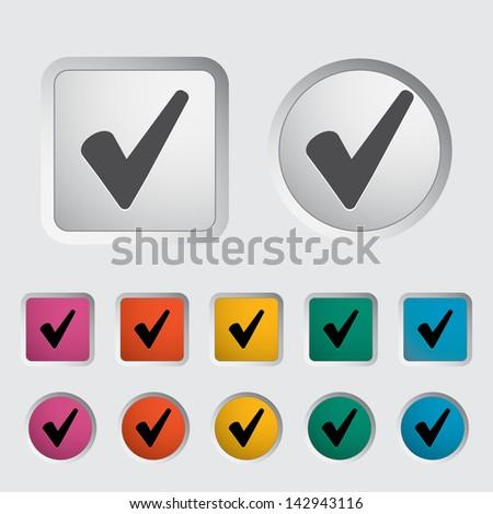 Ok icon. Vector version also available in my portfolio. - stock photo
