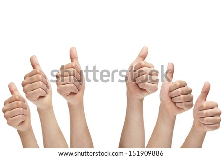 OK sign isolated on white background.  - stock photo