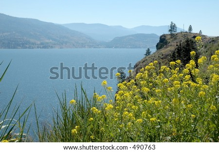 Okanagan Lake - stock photo