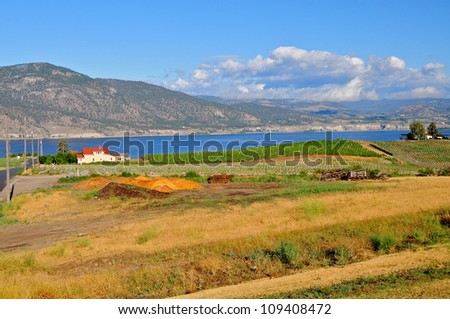 Okanagan Valley landscape, BC - stock photo