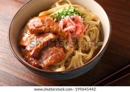 okinawa noodle - stock photo