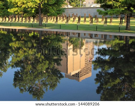 Oklahoma City Reflecting Pool - stock photo