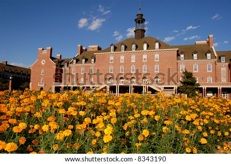 Oklahoma State University Student Union and Garden - stock photo