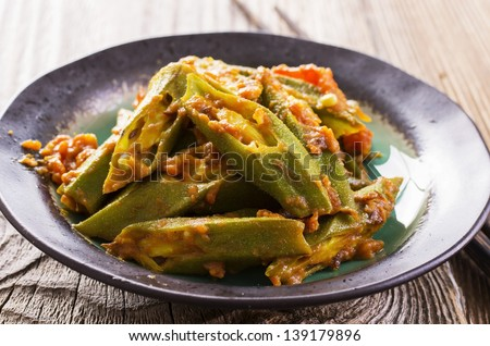okra stew - stock photo