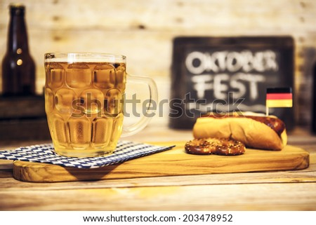 Oktoberfest Beer - stock photo
