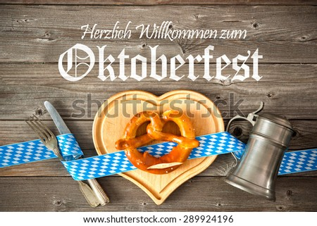 Oktoberfest beer festival template background. Welcome to the Oktoberfest - stock photo
