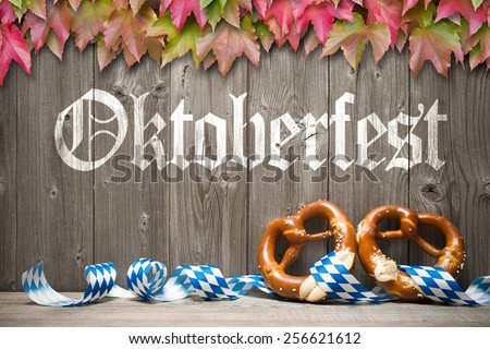 Oktoberfest german beer festival template background. - stock photo