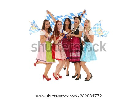 Oktoberfest Group - stock photo