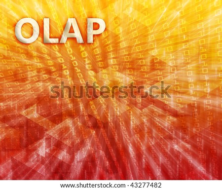 OLAP Business intellegence abstract, computer technology concept illustration - stock photo