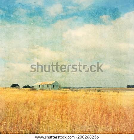old abandoned farm vintage effect - stock photo