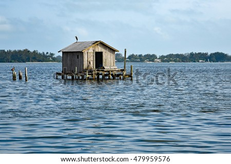 Old Abandoned Fishing House in the Bay of Cortez, Florida