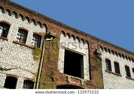 old abandoned industrial architecture - stock photo
