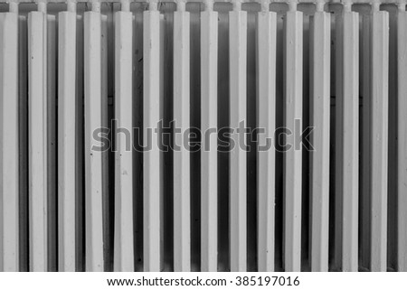 Old abandoned radiator - stock photo
