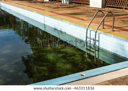 Dirty swimming pool stock images royalty free images - How to clean a dirty swimming pool ...