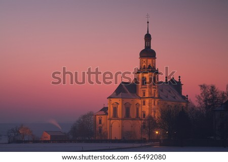 Old Abbey in Bavaria, Germany - stock photo