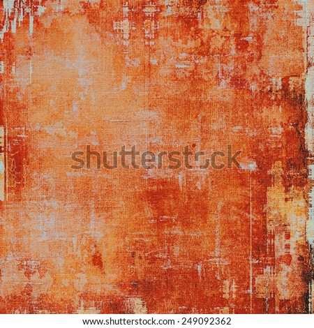Old abstract grunge background, aged retro texture. With different color patterns: yellow (beige); brown; red (orange) - stock photo