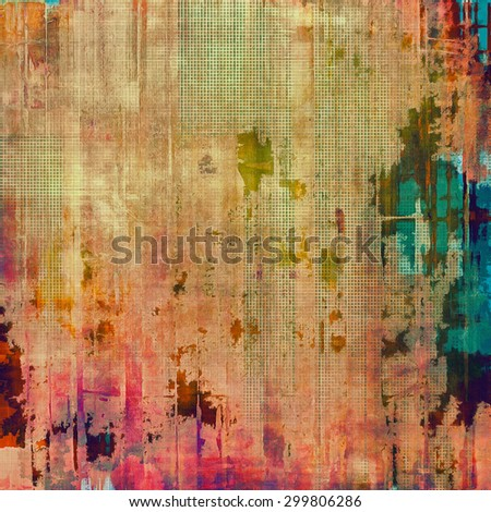 Old abstract grunge background for creative designed textures. With different color patterns: yellow (beige); purple (violet); blue; green - stock photo