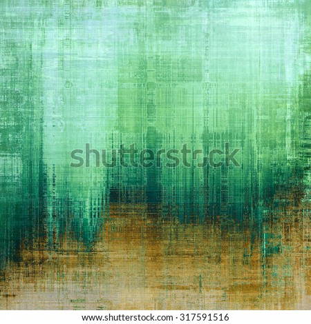 Old abstract grunge background for creative designed textures. With different color patterns: yellow (beige); brown; green; cyan - stock photo