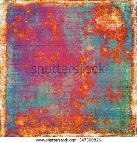 Old abstract grunge background for creative designed textures. With different color patterns: yellow (beige); blue; purple (violet); red (orange) - stock photo