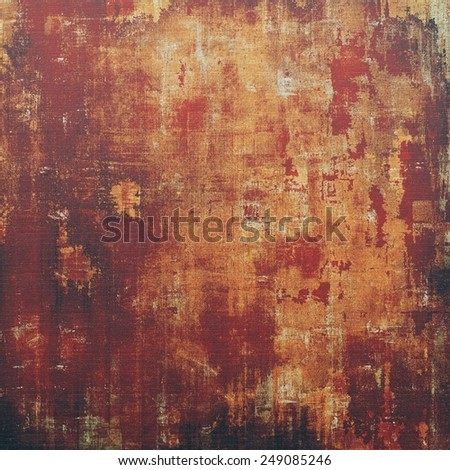Old abstract texture with grunge stains. With different color patterns: yellow (beige); brown; black; red (orange) - stock photo