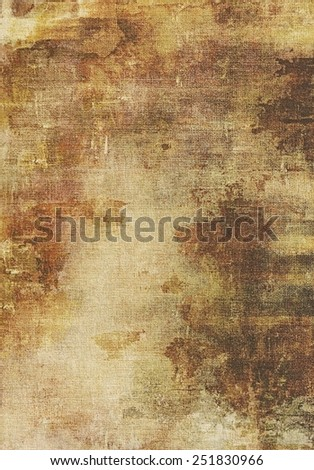 Old abstract texture with grunge stains. With different color patterns: yellow (beige); brown; gray - stock photo