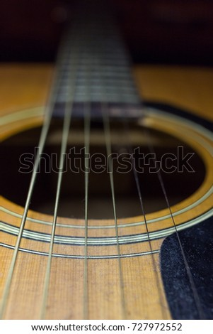 old acoustic guitar
