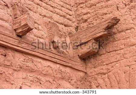 Drywood Termite Damage Crosscut Stock Photo 2712049