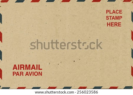 Old Airmail Envelope - stock photo