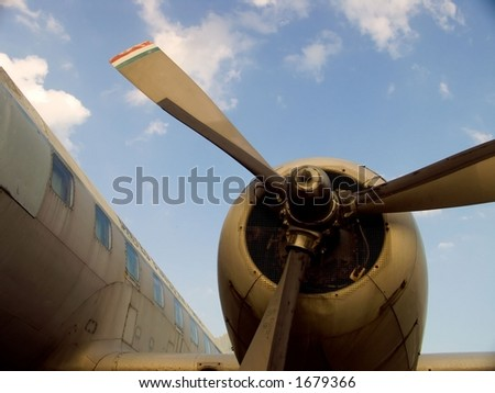 old airplane 1 - stock photo