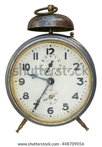 Old (1930-1940) alarm clock - stock photo