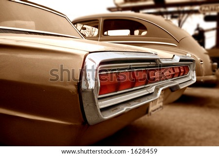 Old American Car - stock photo