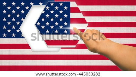 old american flag cotton are polygon and press hand