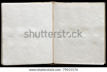 Old ancient book opened with empty pages. - stock photo