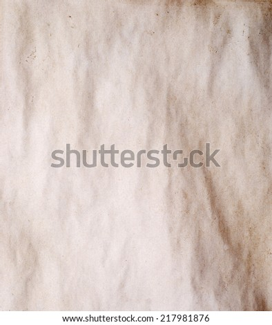 old ancient paper for background - stock photo