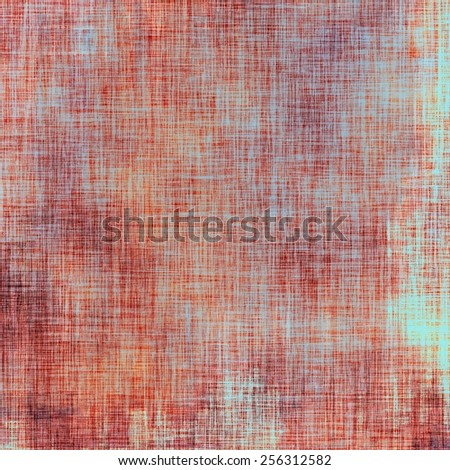 Old ancient texture, may be used as abstract grunge background. With different color patterns: brown; blue; red (orange); cyan - stock photo