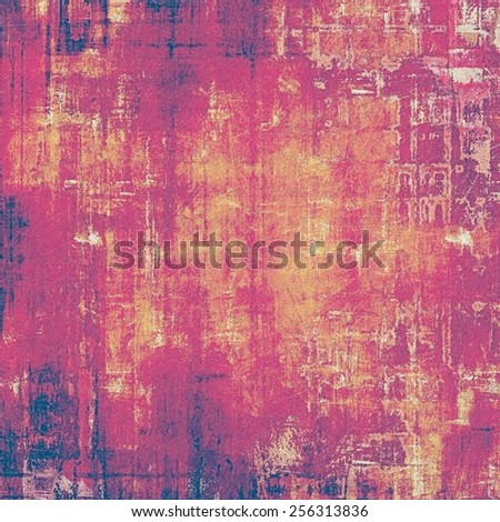 Old ancient texture, may be used as abstract grunge background. With different color patterns: yellow (beige); brown; purple (violet); pink - stock photo