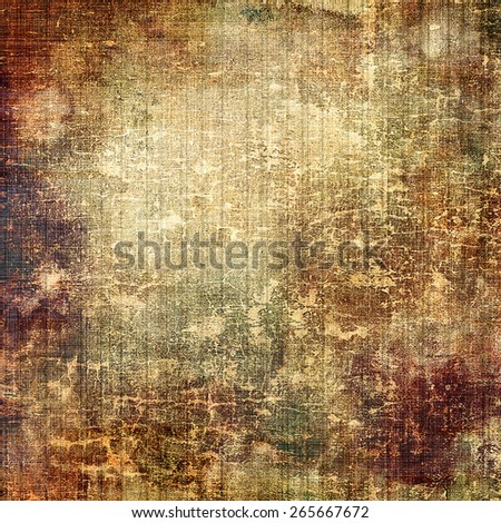 Old ancient texture, may be used as abstract grunge background. With different color patterns: yellow (beige); brown; gray - stock photo
