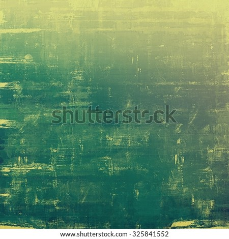 Old ancient texture, may be used as abstract grunge background. With different color patterns: yellow (beige); green; gray - stock photo