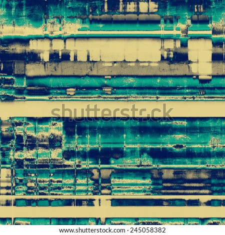 Old ancient texture, may be used as abstract grunge background. With different color patterns: gray; yellow (beige); blue; cyan - stock photo