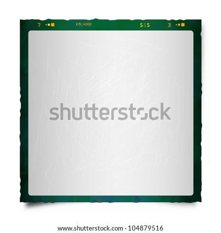Old and Battered Square Instant Photo Frame. - stock photo
