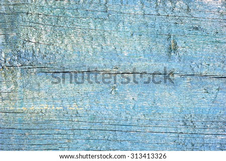Old and blue vintage wood texture. Background. - stock photo