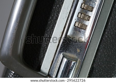 Old and dirty briefcase represent the business concept related idea. - stock photo