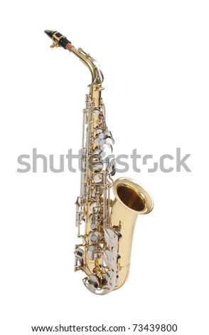 Old and great sound of the saxophone - stock photo