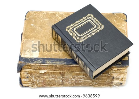 Old and new book - stock photo