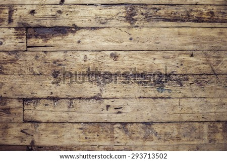 Old and shabby floor. Wooden planks texture. - stock photo