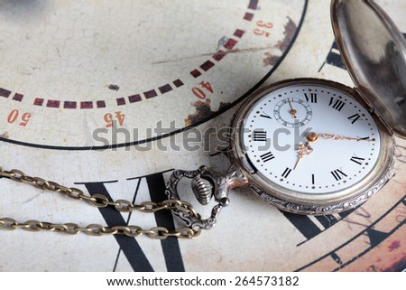 old and vintage clock - stock photo