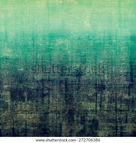 Old and weathered grunge texture. With different color patterns: brown; green; cyan; blue - stock photo