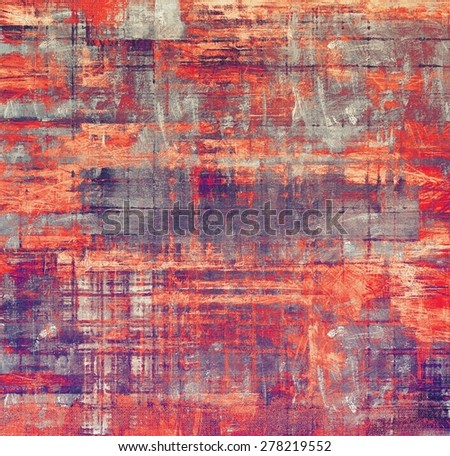 Old and weathered grunge texture. With different color patterns: gray; purple (violet); red (orange) - stock photo