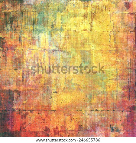 Old and weathered grunge texture. With different color patterns: yellow (beige); brown; red (orange); green - stock photo